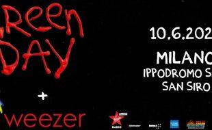 Green Day e Weezer in Italia, 10 giugno 2020, Milano