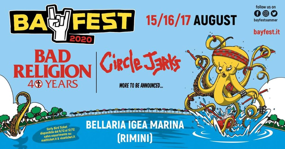 Circle Jerks e Bad Religion al Bay Fest 2020
